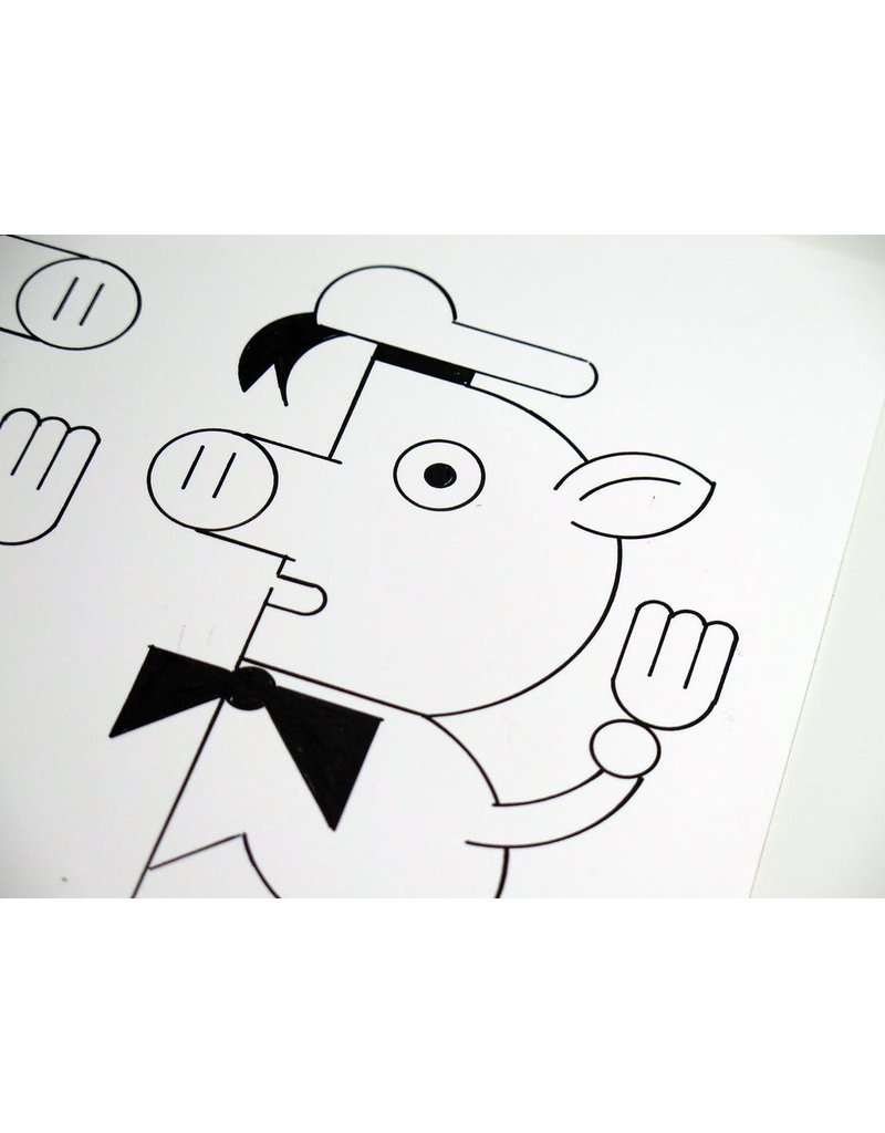 Ivan Brunetti Pigs, 2014, Illustration by Ivan Brunetti