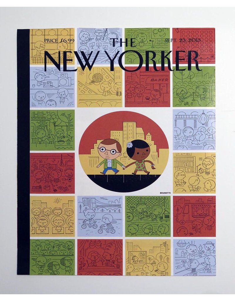 Ivan Brunetti Comedy, Illustration by Ivan Brunetti for the New Yorker, Goings On About Town, September 12, 2013