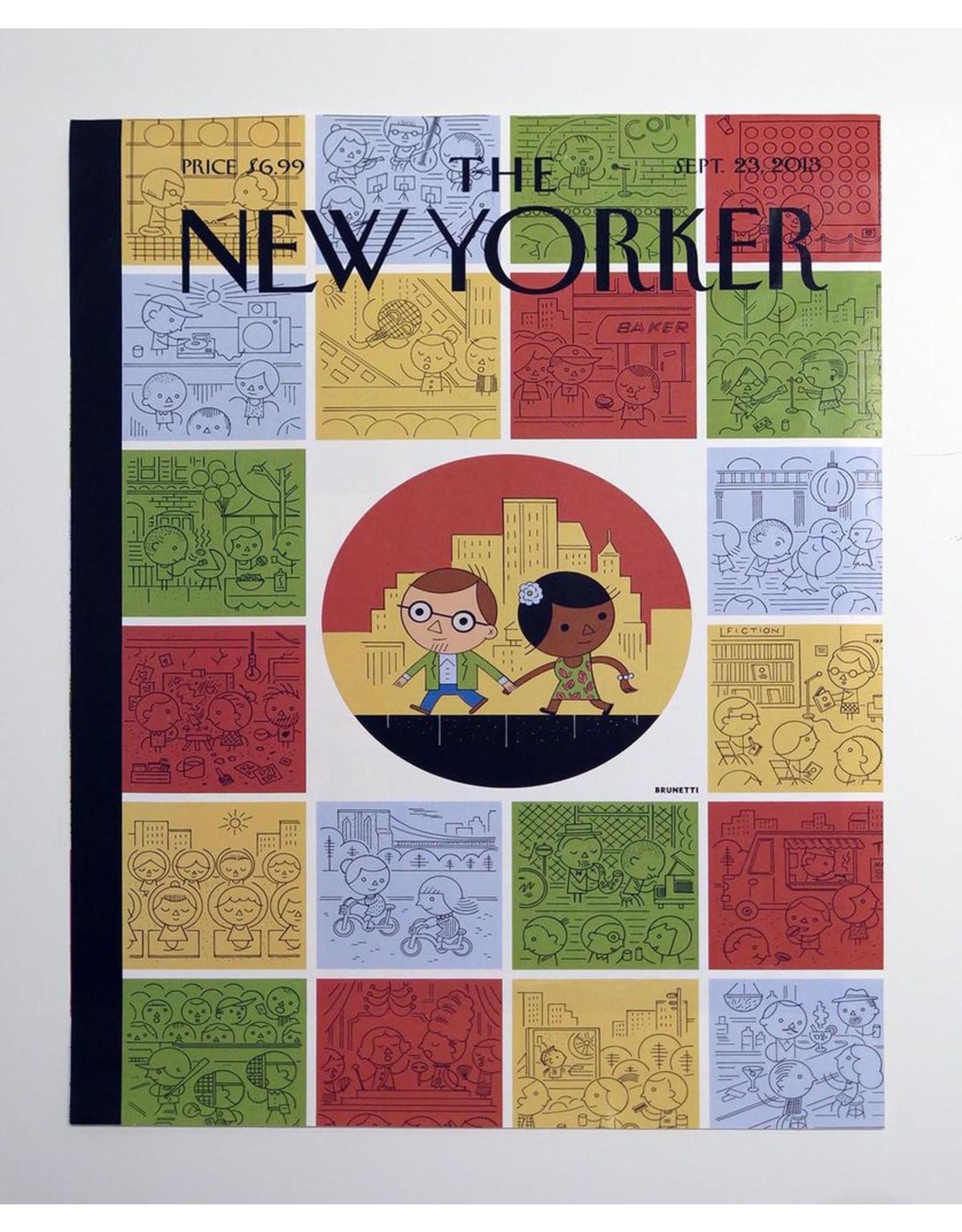 Ivan Brunetti Biking, Illustration by Ivan Brunetti for the New Yorker, Goings On About Town, September 12, 2013