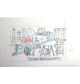 Ivan Brunetti Pencil rough for Wordplay cove, 2016 by Ivan Brunetti