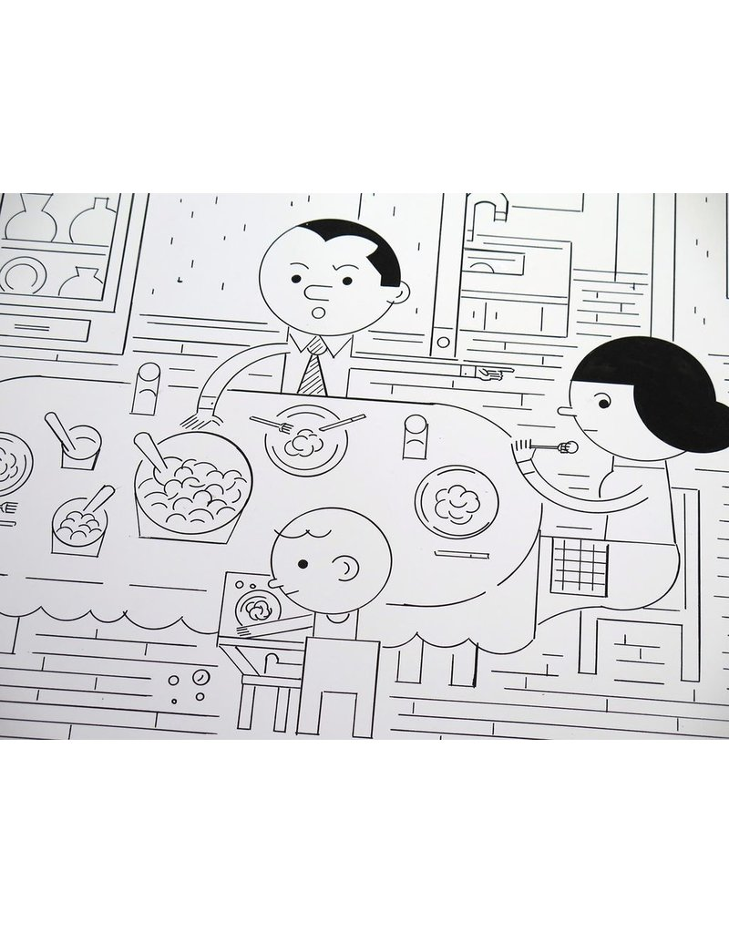 Ivan Brunetti Dining Room (original version, from Wordplay) 2016 by Ivan Brunetti