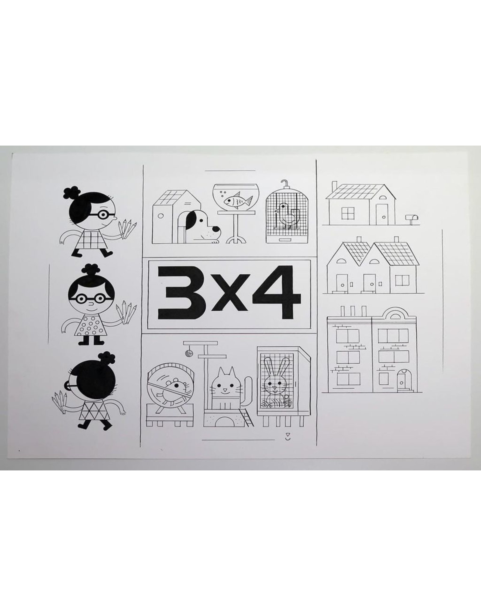 Ivan Brunetti Cover for 3X4, 2017 by Ivan Brunetti