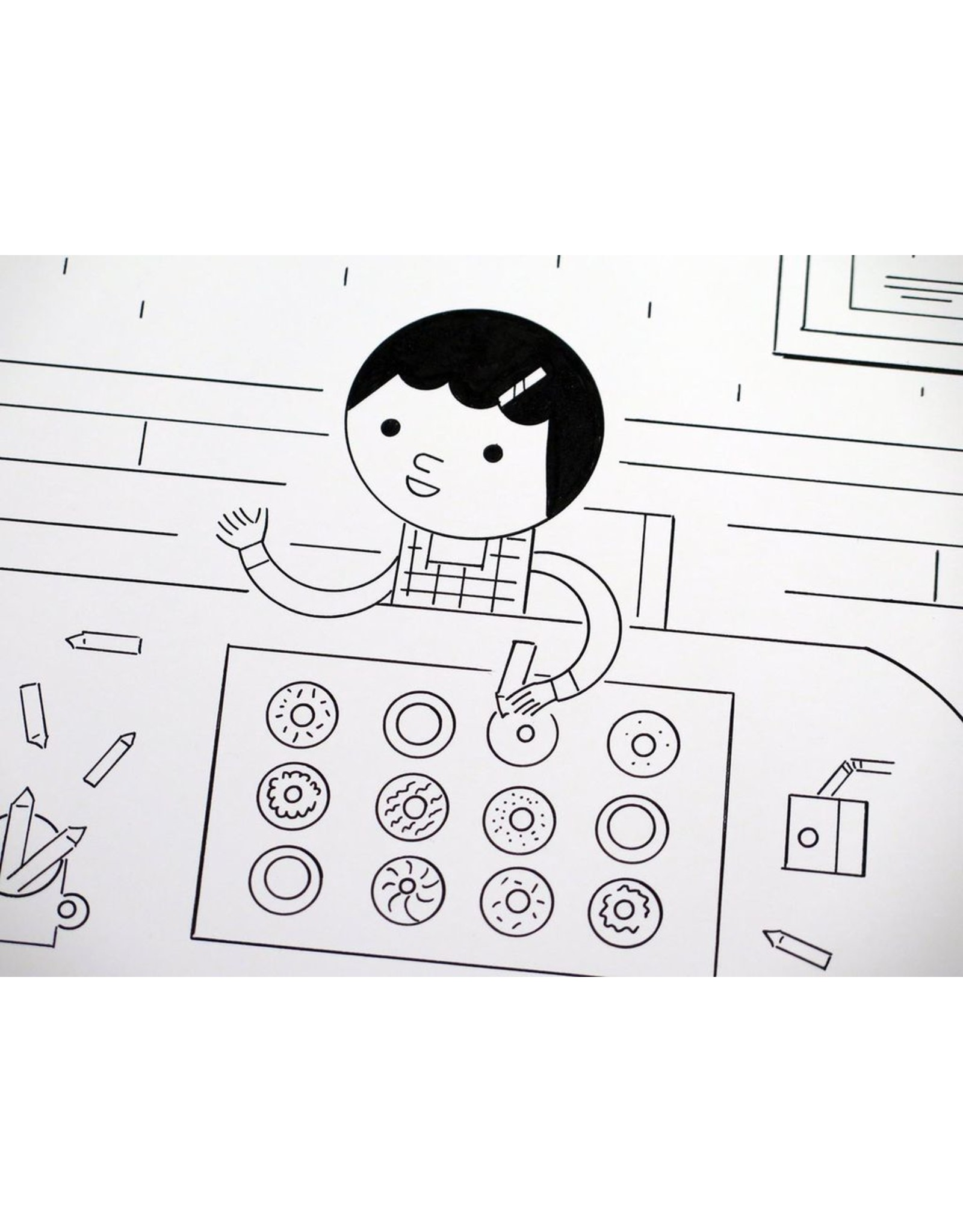 Ivan Brunetti Flowers and Donuts (from 3X4) 2017 by Ivan Brunetti