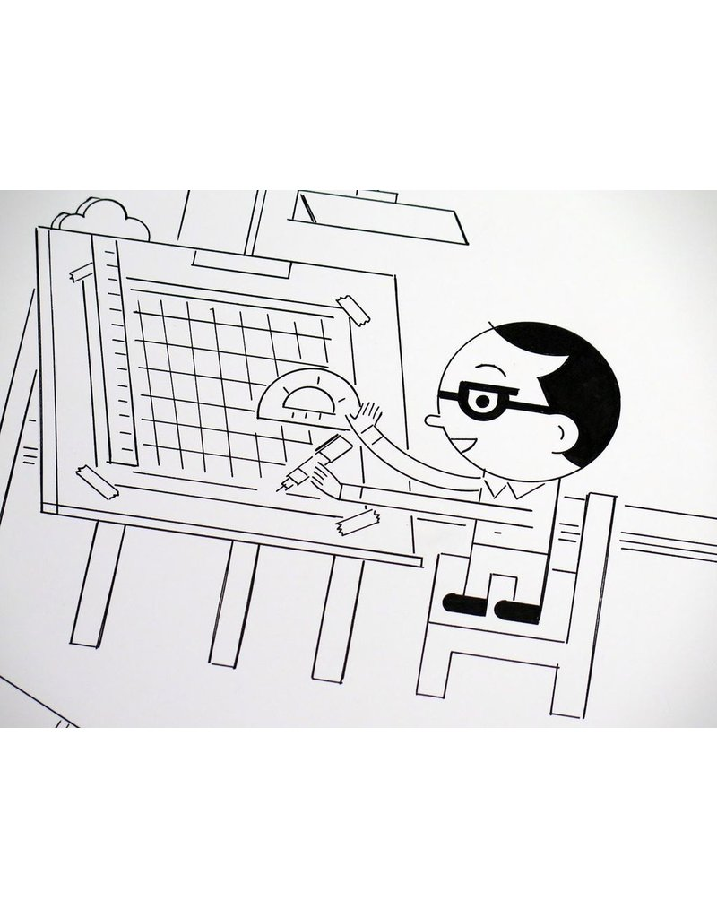 Ivan Brunetti Drawing Table (from 3X4) 2017 by Ivan Brunetti