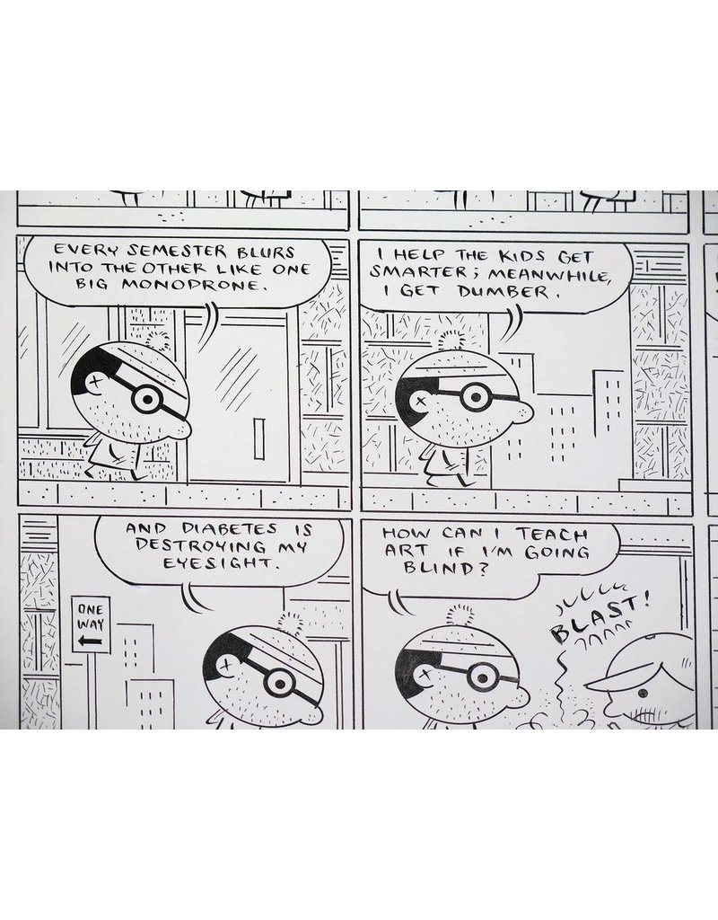 Ivan Brunetti Mr. Peach (Inked Page), 2011 by Ivan Brunetti