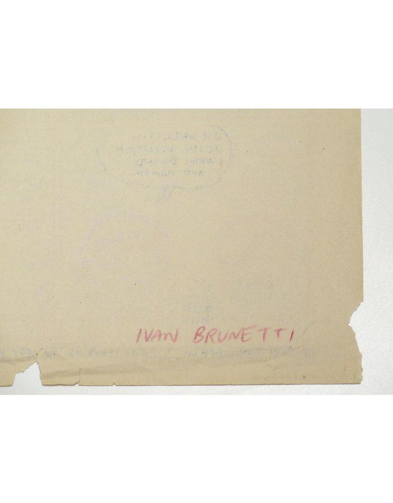 Ivan Brunetti Mr. Peach (Pencil Rough), 2011 by Ivan Brunetti