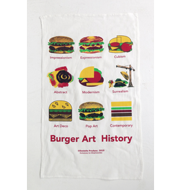 """Burger Art History"" Tea Towel - Buy Columbia, By Columbia"