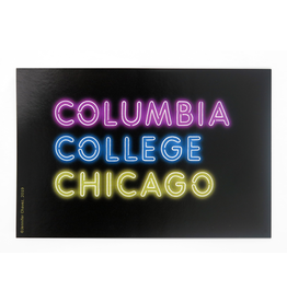 Columbia College Chicago Neon Sign Sticker - Buy Columbia, By Columbia