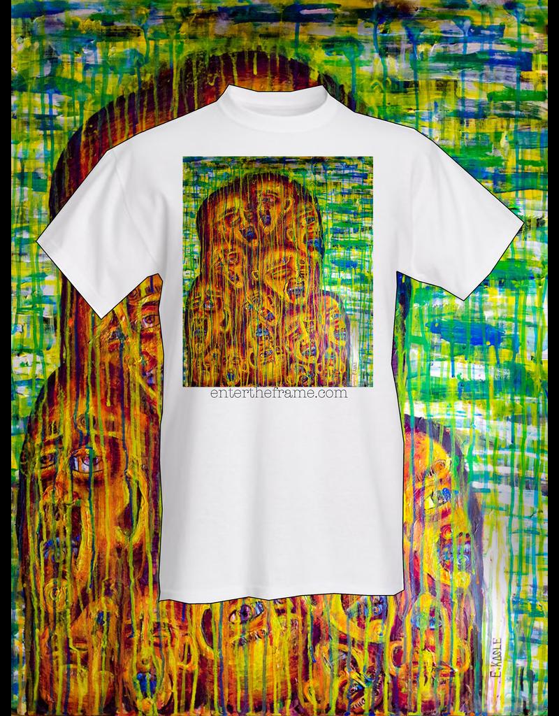 "Evan Kasle ""Convergence of Our Vibrant Souls"" Tee Shirt (Large) by Evan Kasle"