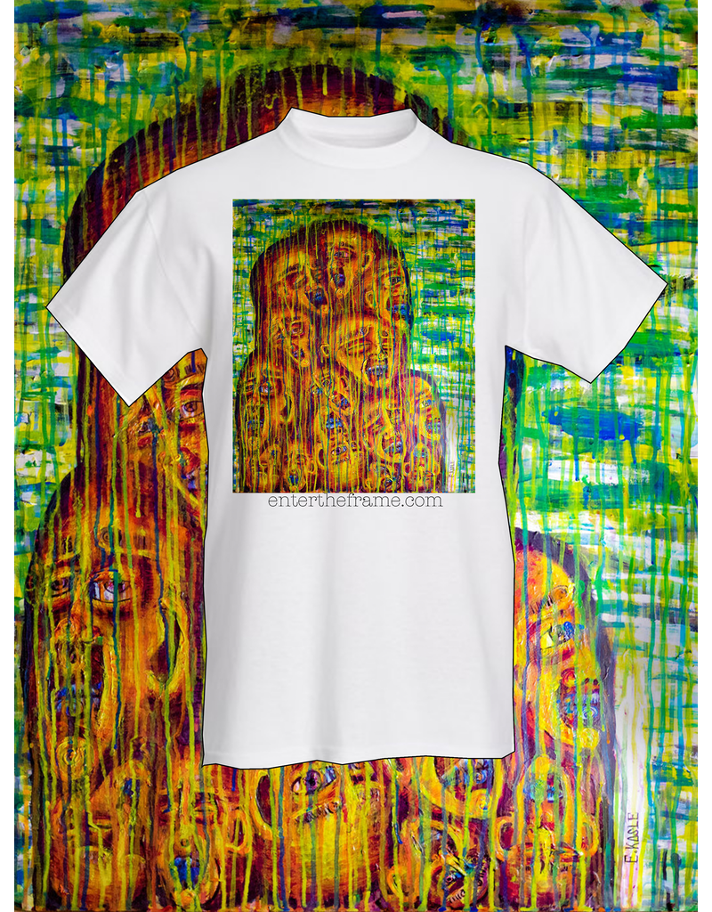 """Convergence of Our Vibrant Souls"" Tee Shirt (Medium) by Evan Kasle"