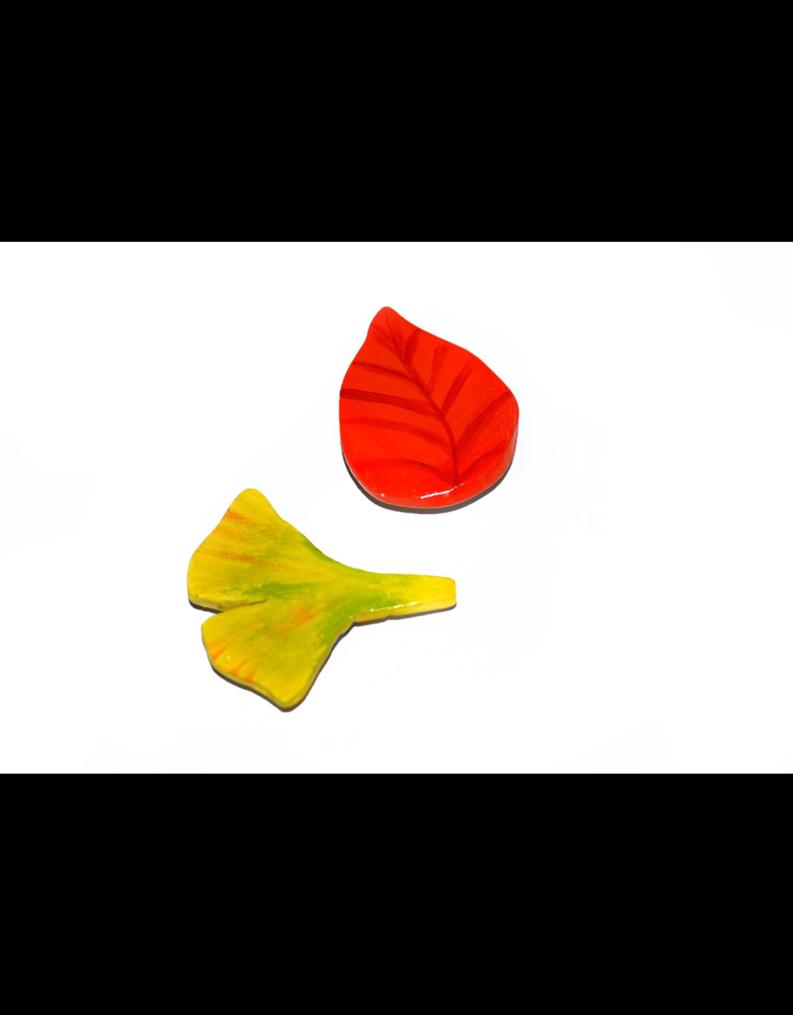 Alli Davis Fall and Ginko Leaf Magnet Set, Alli Davis