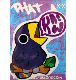 "David Knight Phat Ass ""Kaw!""  Sticker by David Knight"