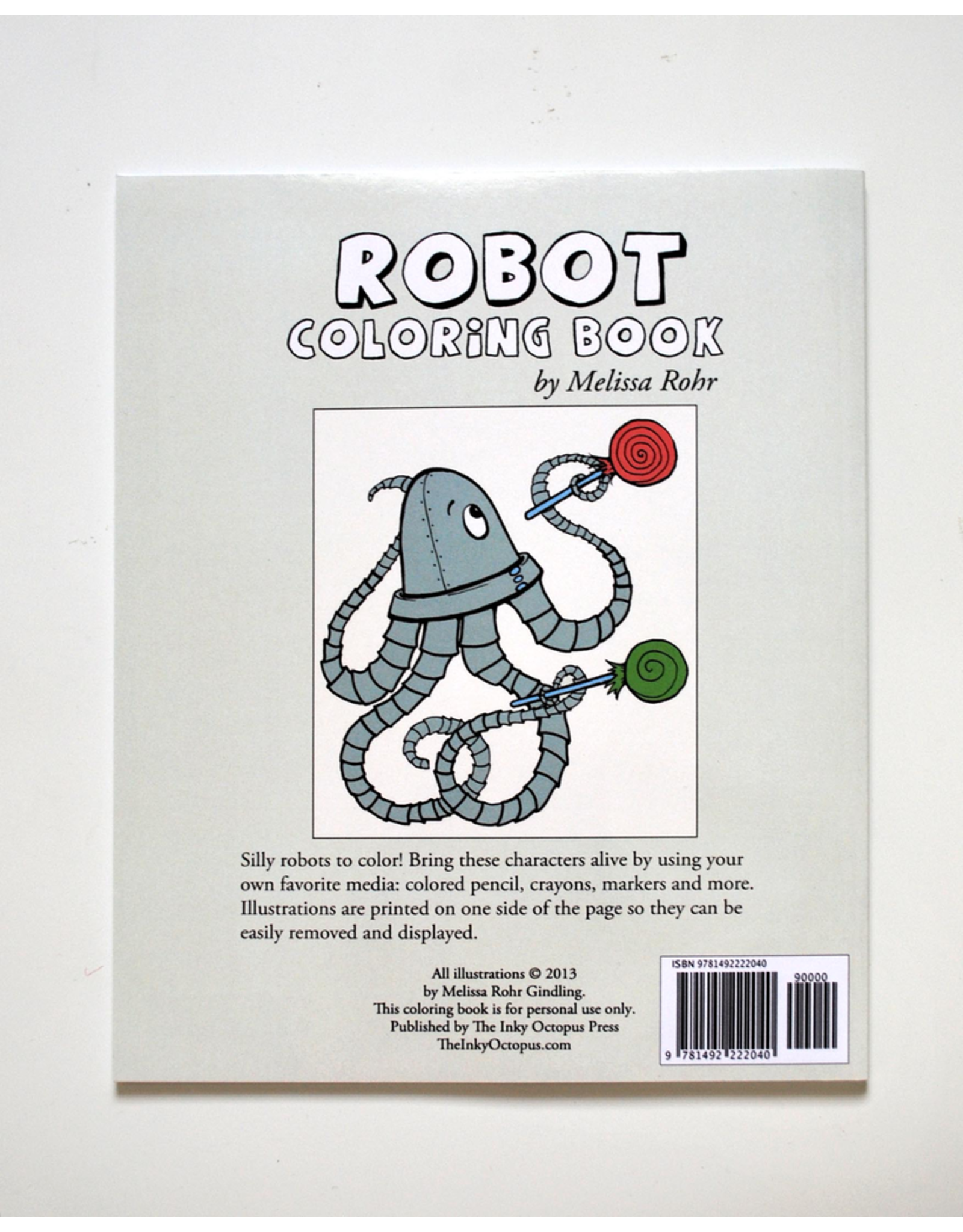 Melissa Rohr Gindling Robot Coloring Book by Melissa Rohr Gindling