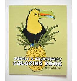 Melissa Rohr Gindling Jungle and Rainforest Coloring Book by Melissa Rohr Gindling