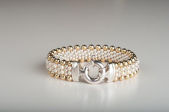 Dovera Designs Golden Pearl Bracelet