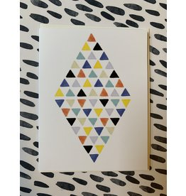 Diamond Triangle Birthday Foil Card