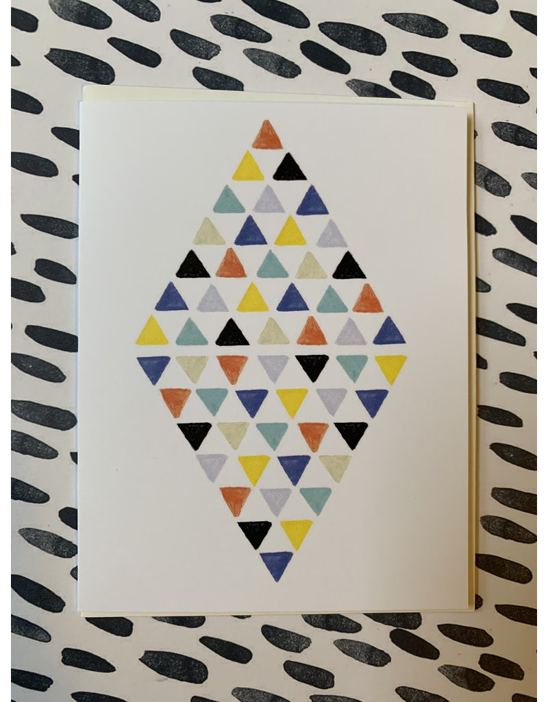 Diamond Triangle Birthday Foil Card