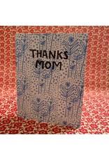 Thanks Mom Folk Floral Card
