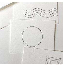 Tiny Bones Circle Design II Notecard