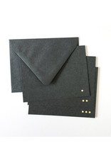 Tiny Bones Maya Gold/Charcoal Notecard