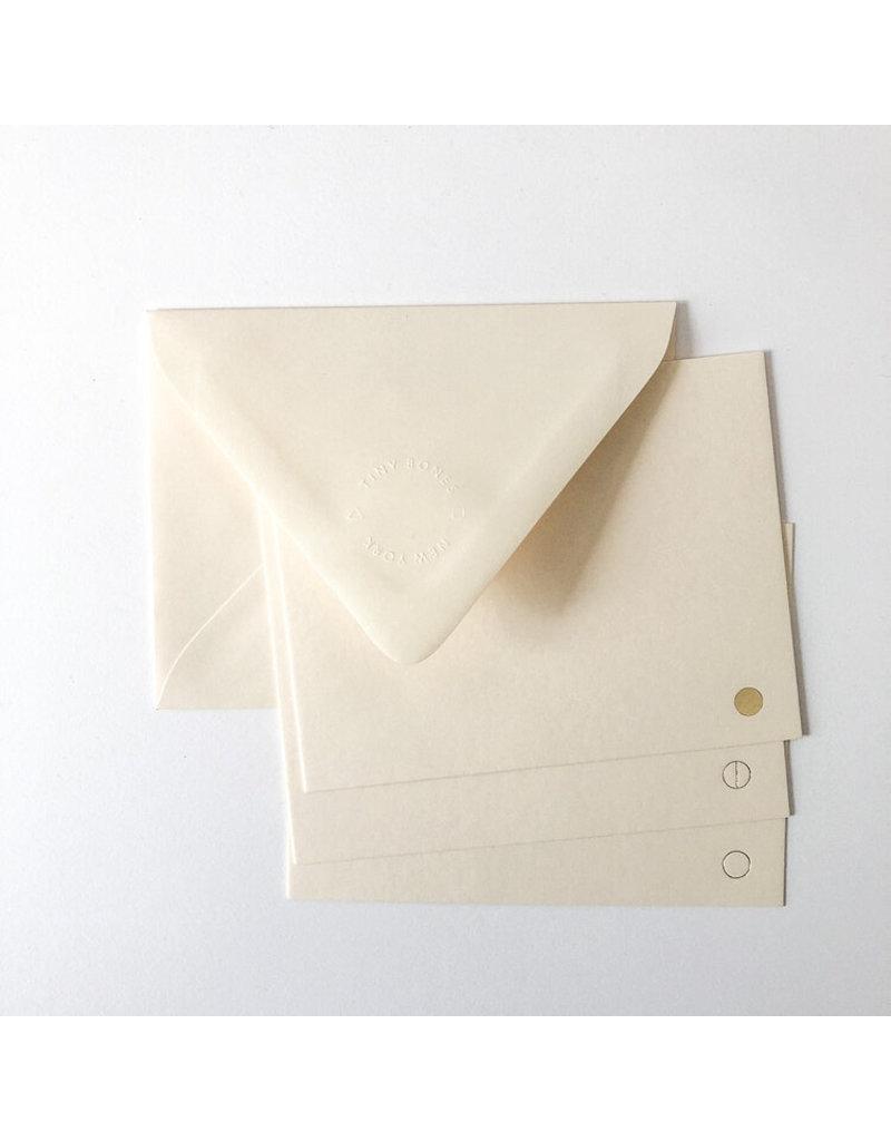 Tiny Bones Full Moons Gold/Moonlight Notecard