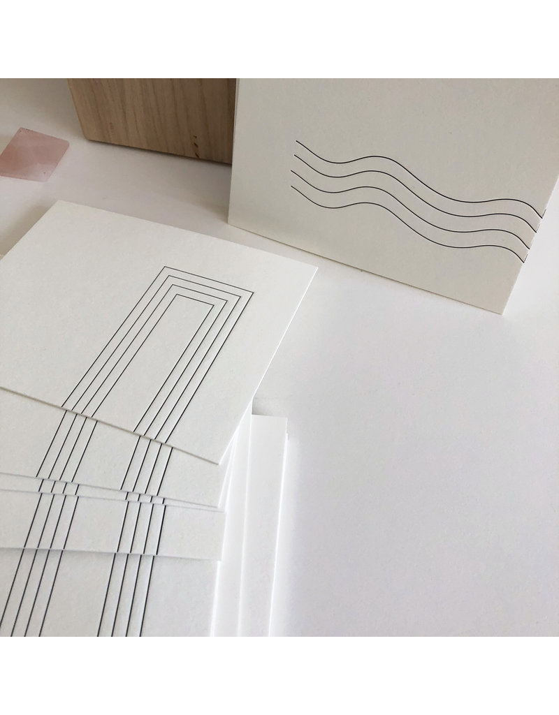 Tiny Bones Rectangle Design II Notecard