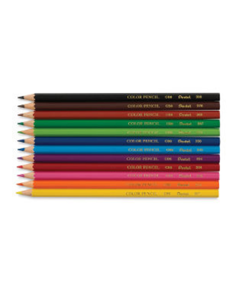 Pentel Arts Color Pencil 12 PK