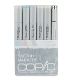 Copic 6 PK Sketch Marker Set  - Blend Basic