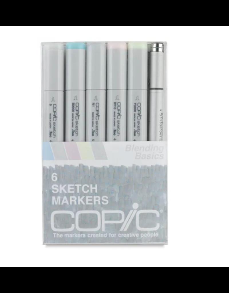 Copic 6 PK Sketch Marker Set  - Blend Basic