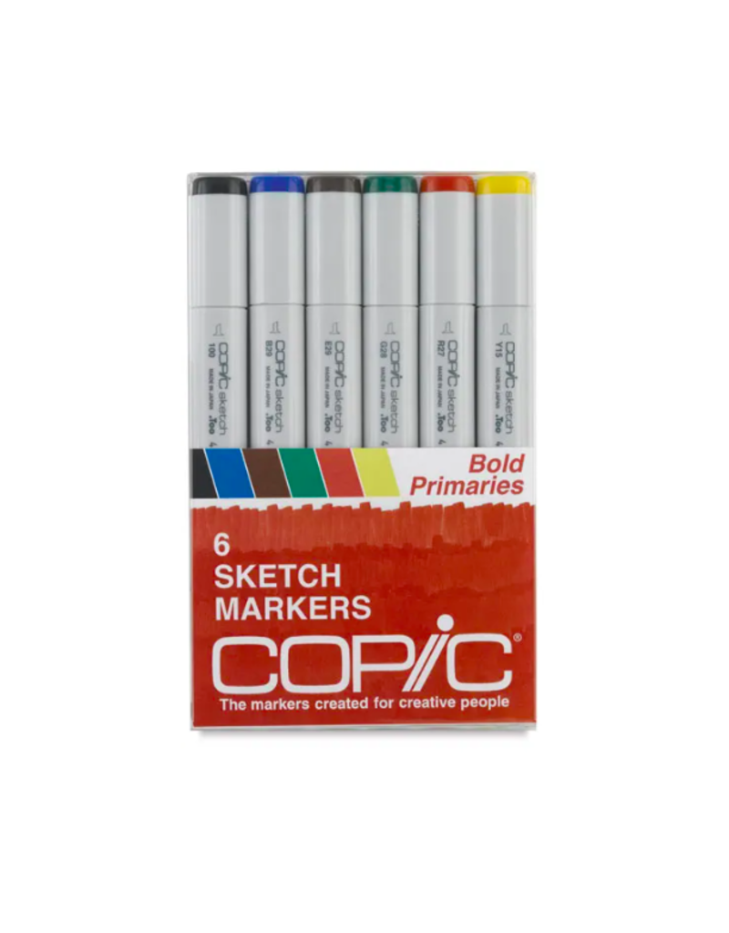 Copic 6 PK Sketch Marker Set  - Bold Primaries