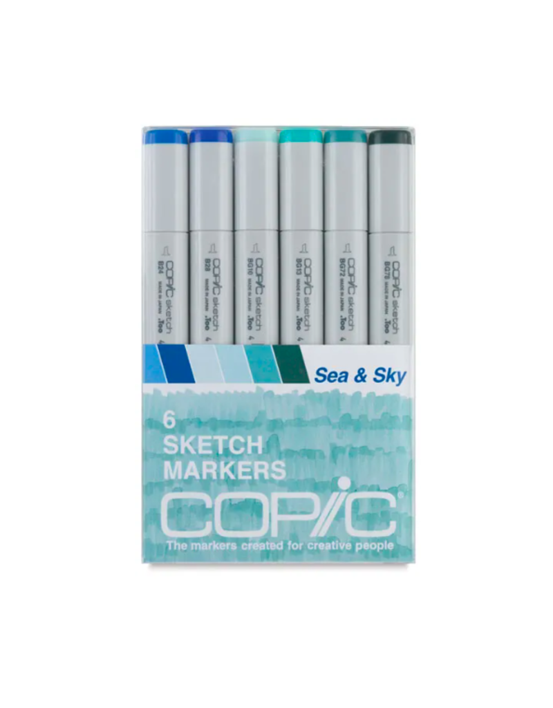 Copic 6 PK Sketch Marker Set  - Sea & Sky
