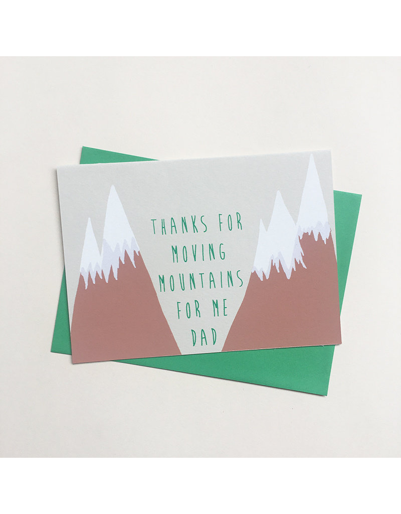Moving Mountains Father's Day Card