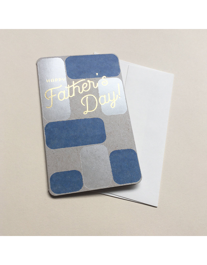 Anemone Block Foil Father's Day Card