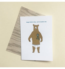 Bear Pants Father's Day Card