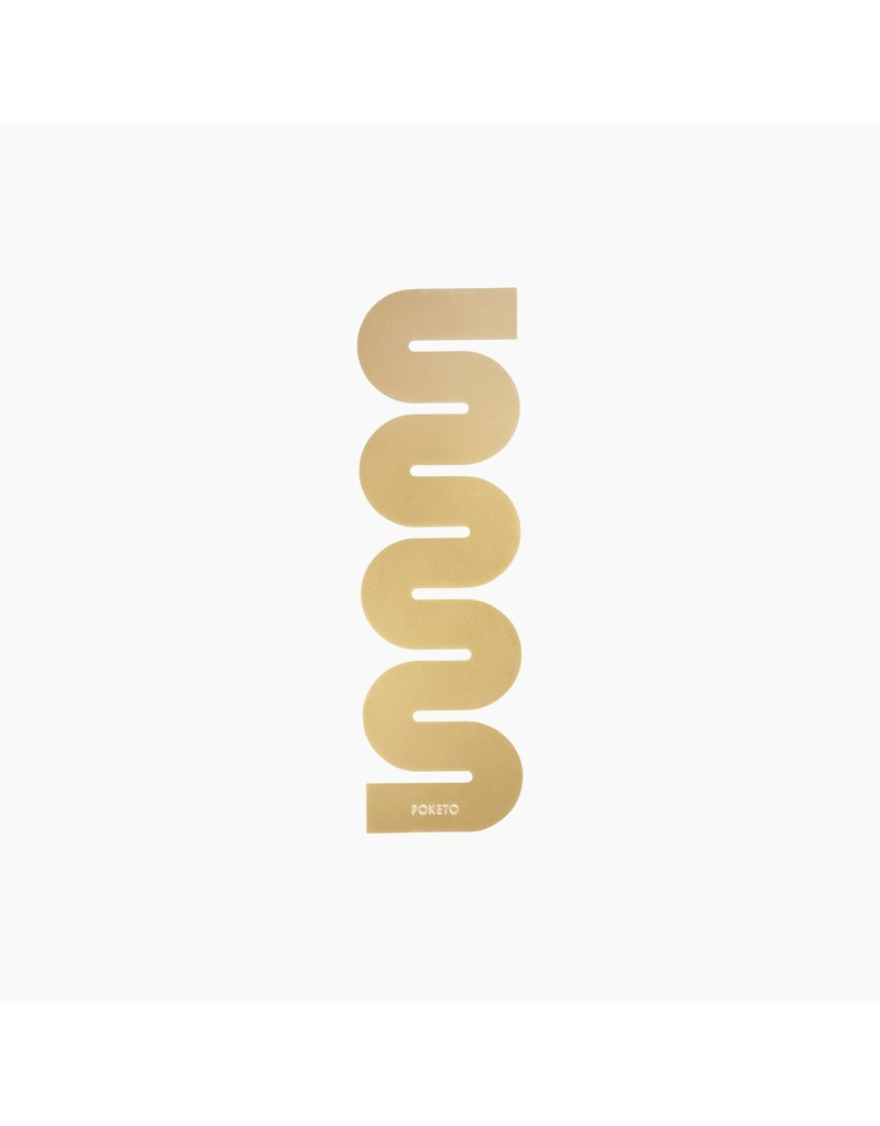Brass Squiggle Book Mark