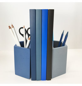 Concrete Book End & Pencil Cup Set