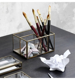 Monograph Glass Desk Organizer
