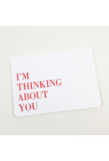 Le Typographe Thinking About You Card