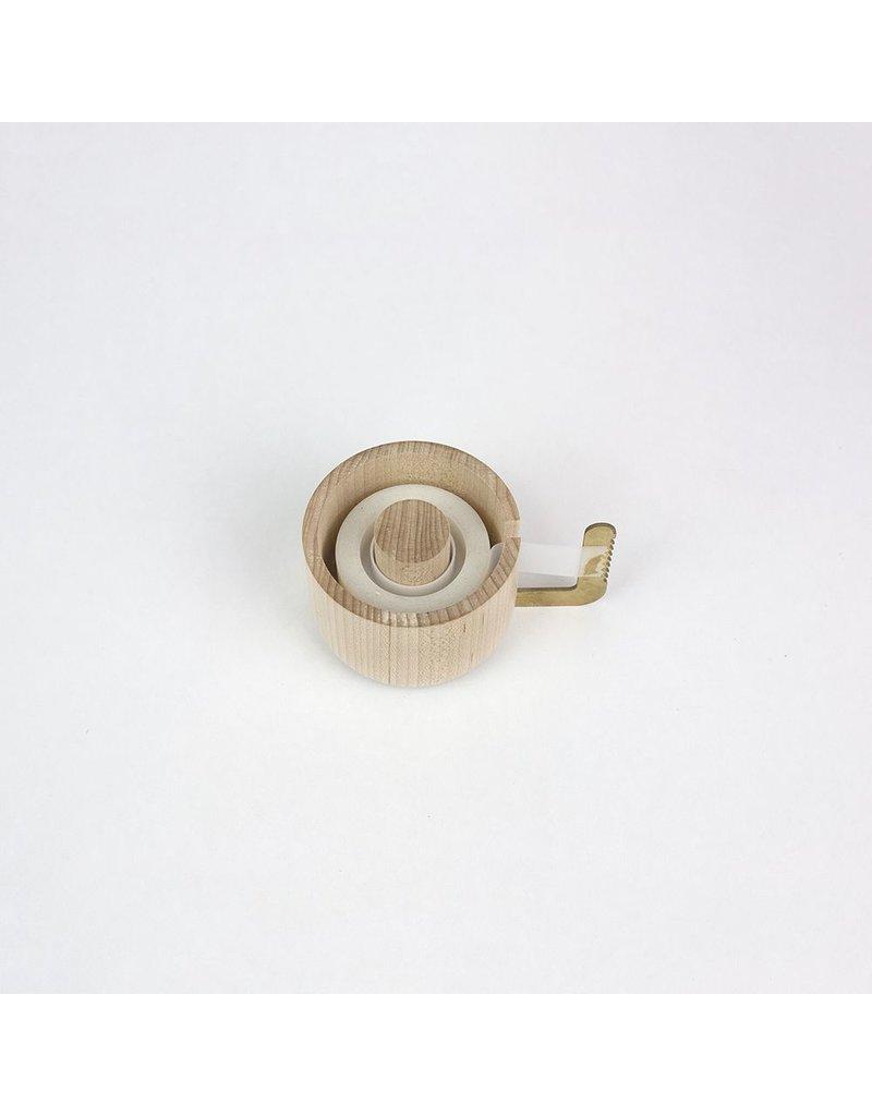 Brass & Maple Tape Dispenser