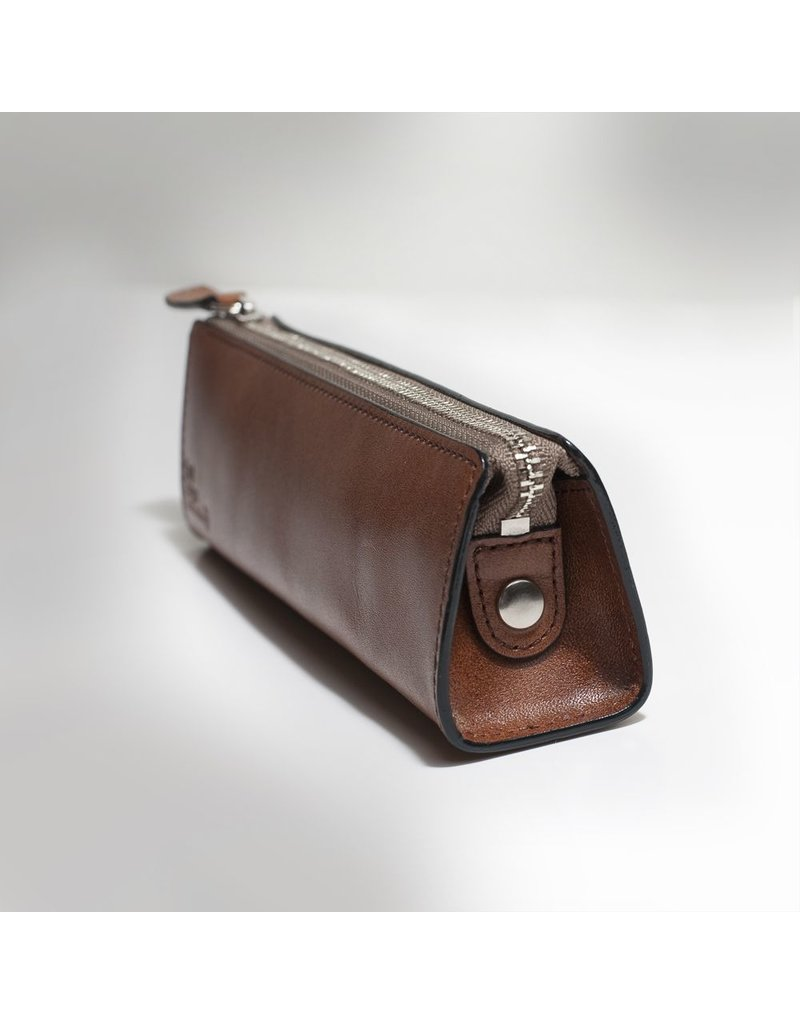 Cinnamon Leather Pen Case