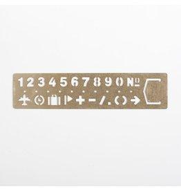 Brass Numeric Bookmark