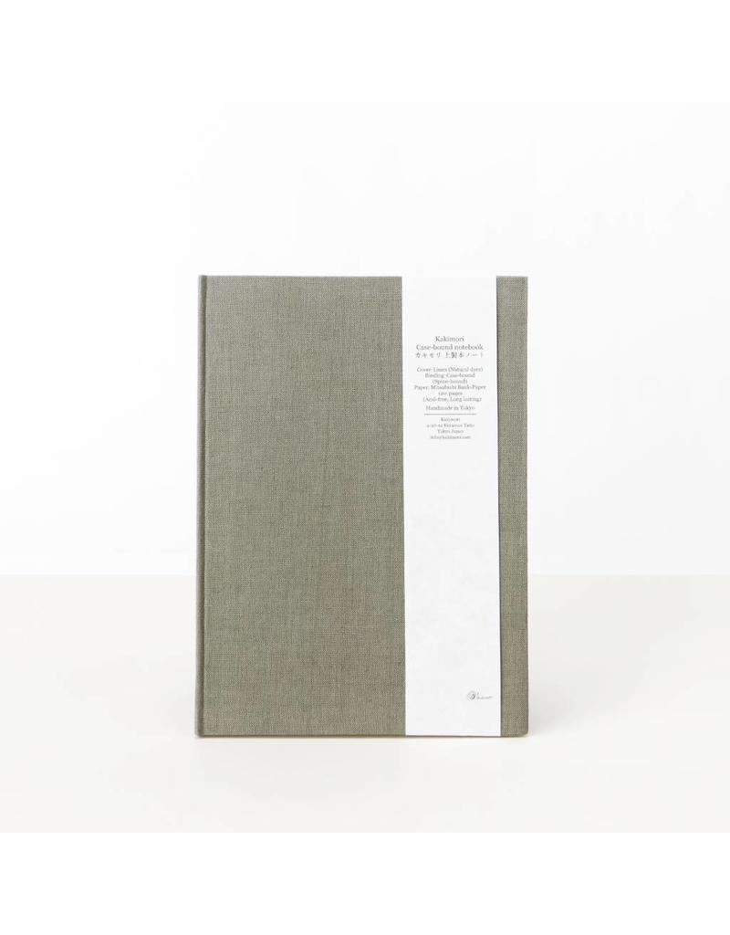 Hand-Bound Blank Notebook, Green