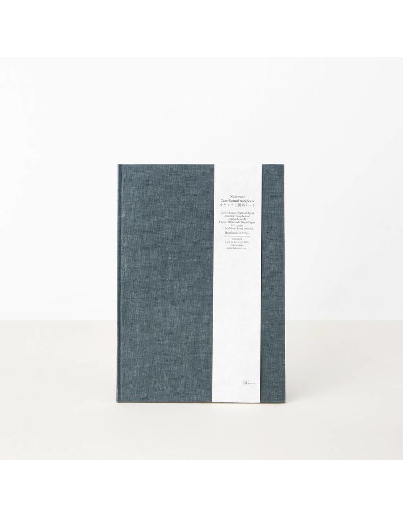 Hand-Bound Blank Notebook, Blue