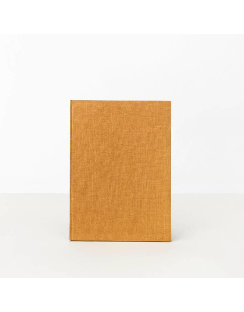 Hand-Bound Blank Notebook, Orange