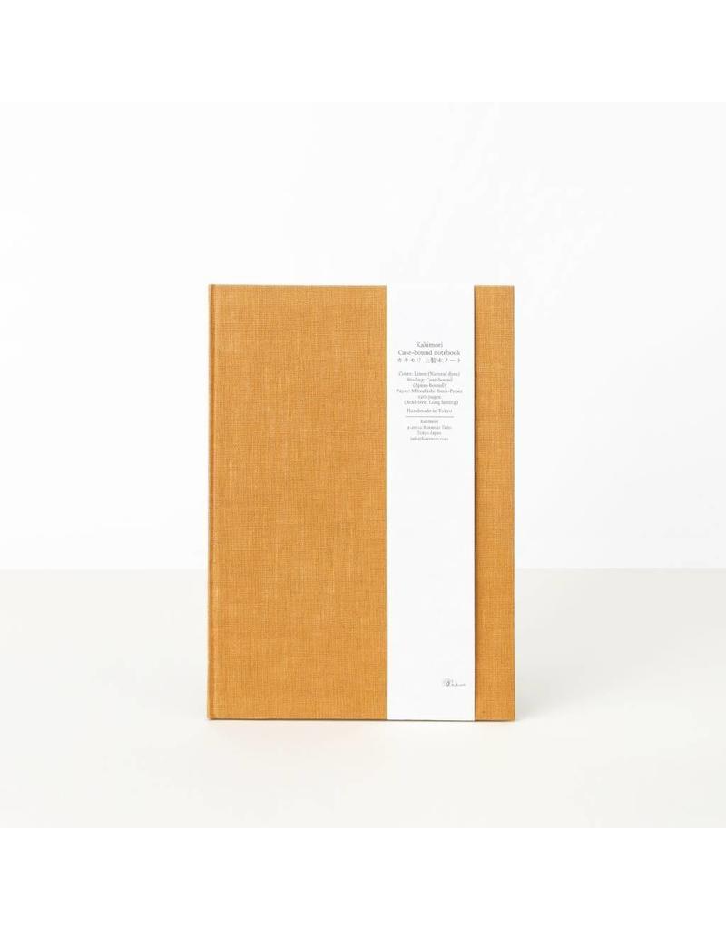 Hand-Bound Blank Notebook, Orange