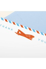 Boxed Cards Thank You Plane Card Set