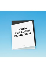 Card Form follows Function Card