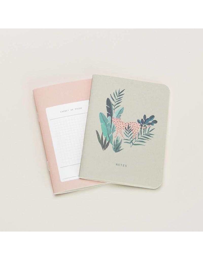 Mini Notebook Set, Leopard