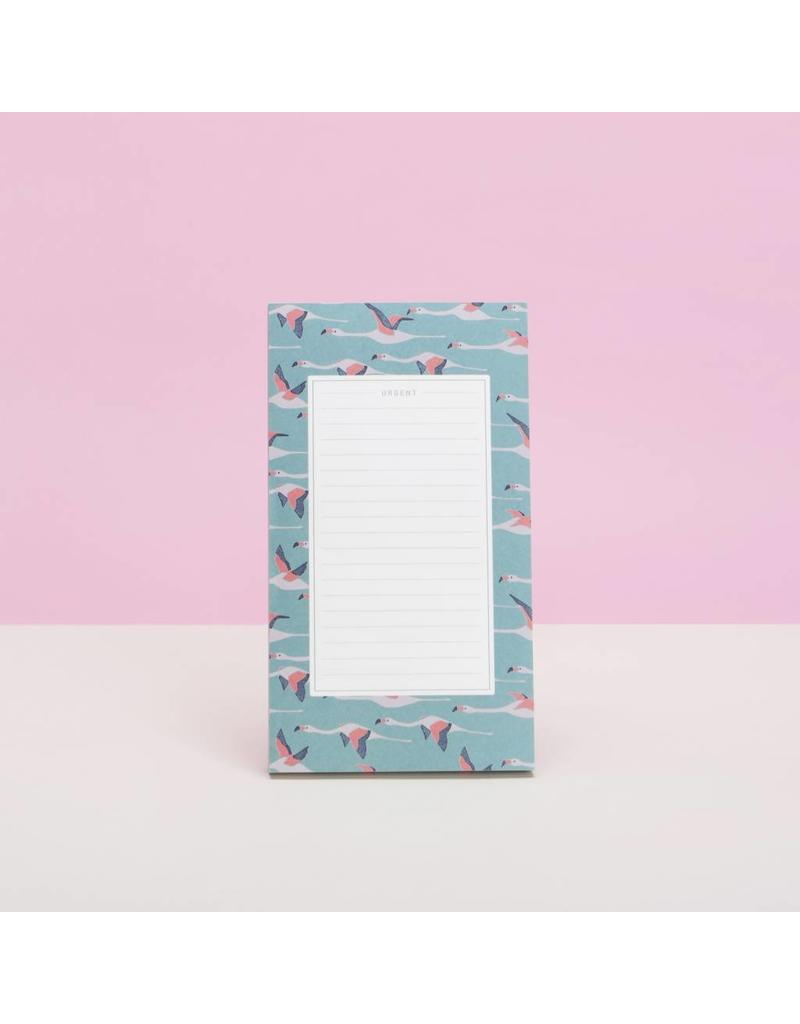 Pattern Notepad, Flamingos