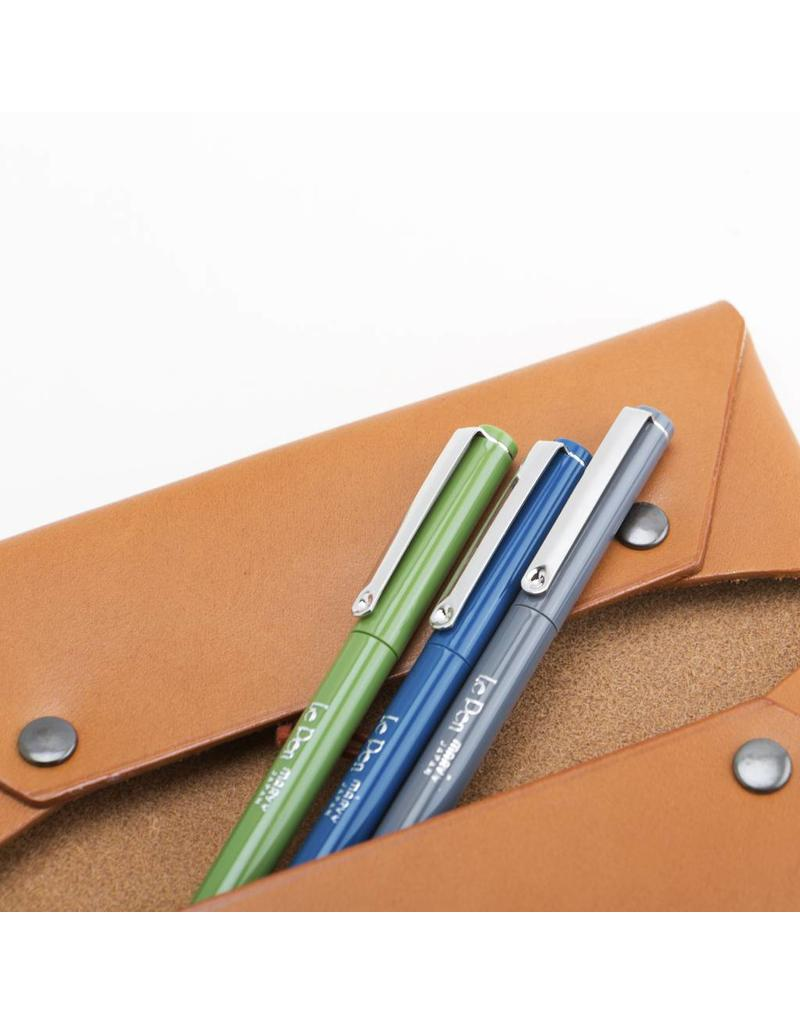 Double Pocket Leather Pen Case